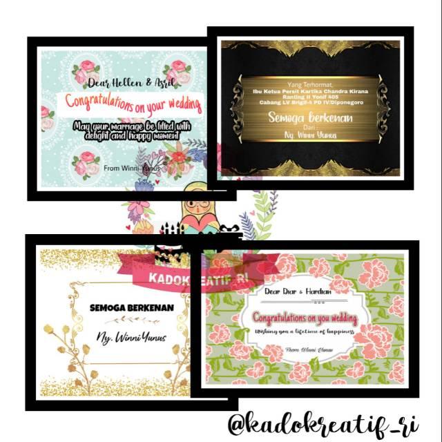 Jasa desain kartu ucapan olshop /Wedding/wisuda/undangan ...
