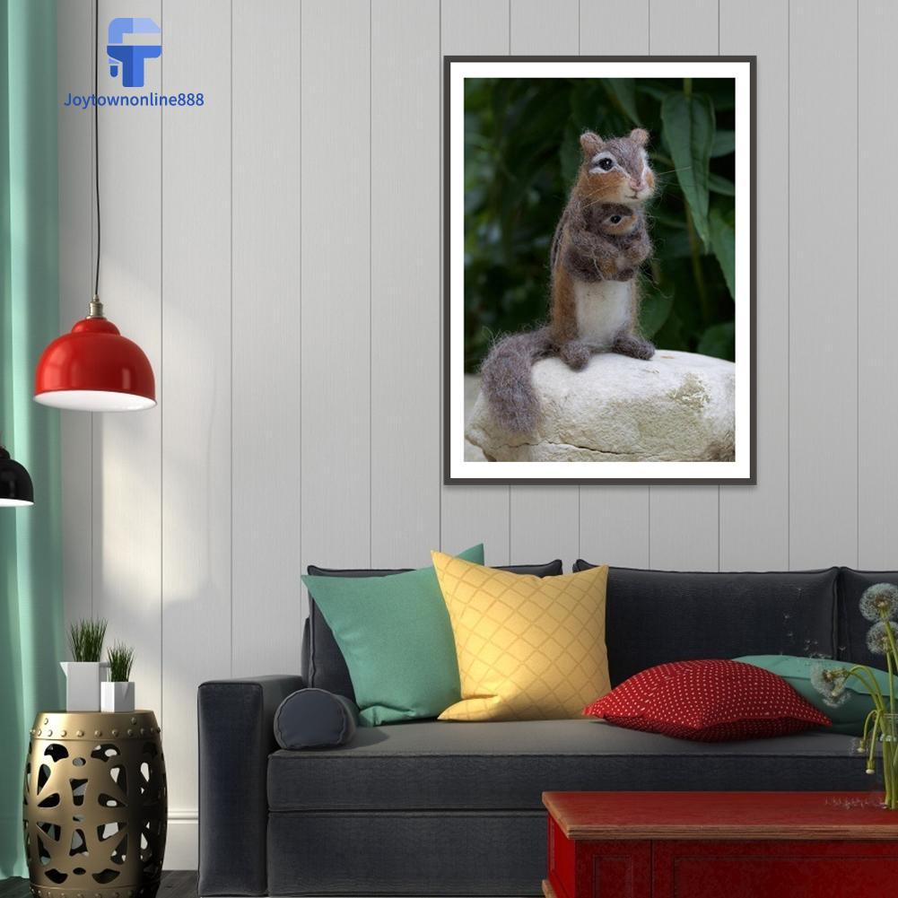 Joe Lukisan Diamond 5D DIY Gambar Tupai Untuk Dekorasi Rumah
