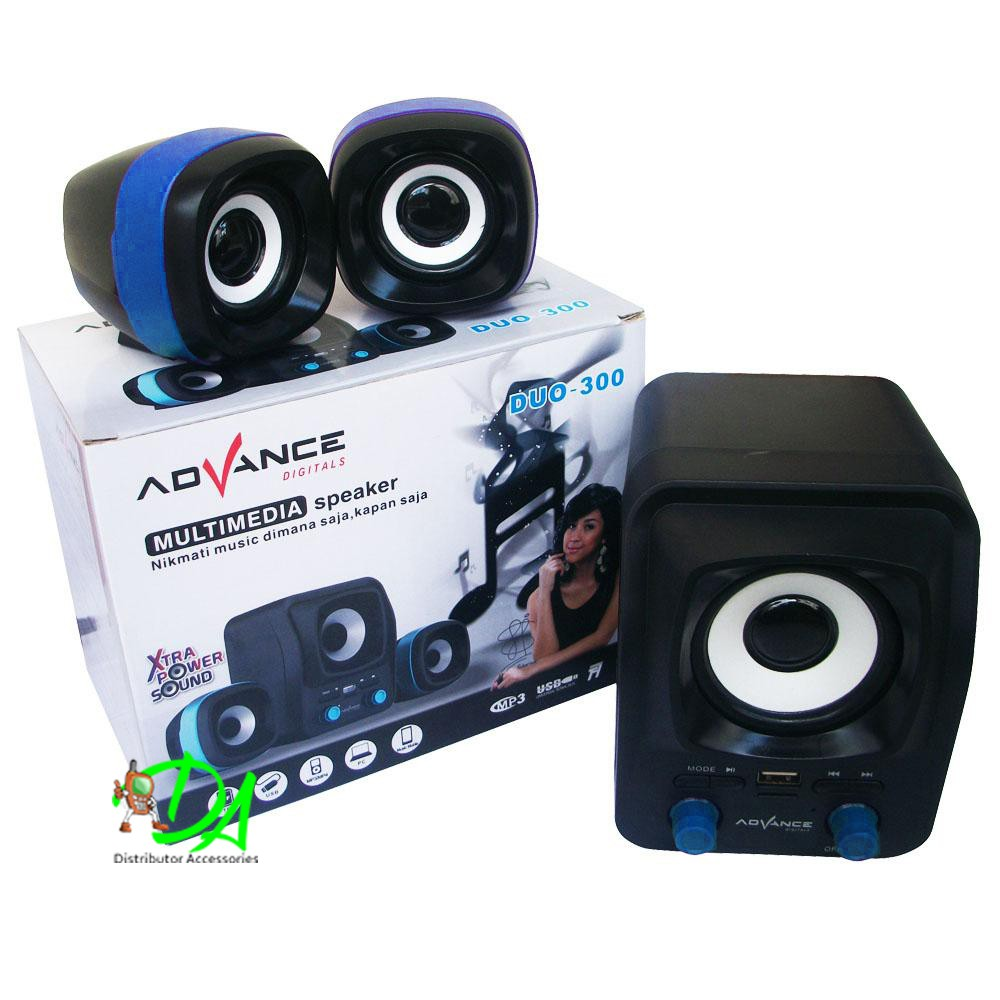 Advance Speaker Multimedia Digital 2.1 Duo-300 XTRA POWER SOUND | Shopee Indonesia