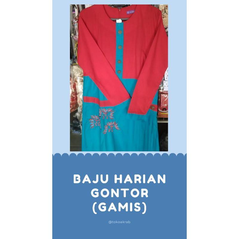 Gamis Harian Santriwati Gontor XL/Gamis Muslimah Syar'i
