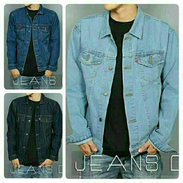 Jaket Jeans Biru Muda/Bioblitz/Biru Tua/Biowash/Hitam/Black/Garment/Dongker Regular Size M/L/XL