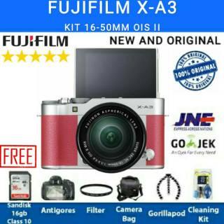 FUJIFILM X-A3 / FUJI XA3 KIT 16-50MM OIS II WiFi ORIGINAL - PAKET LENGKAP