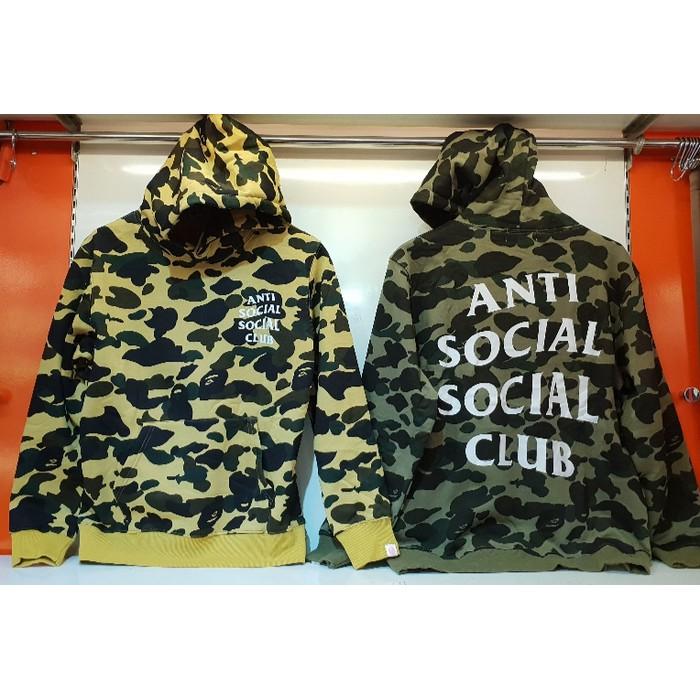 a882ad3b6d77 Flash Shop! HOODIE CAMO ANTI SOCIAL SOCIAL CLUB ASSC FULL TAG ...