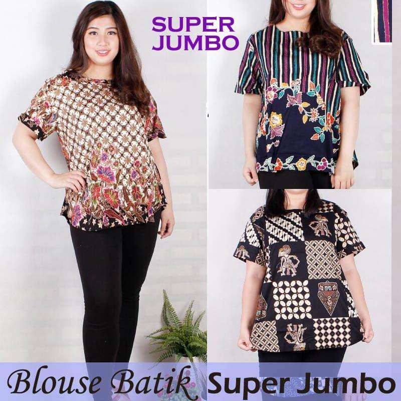 Terbaru Blouse Denim turkish atasan baju wanita jumbo big size xxxl Harga Terbaik   Shopee Indonesia