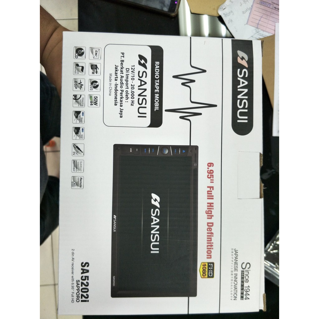 Double Di Sansui Head Unit Tape Mobil Shopee Indonesia Din Hd Yokohama