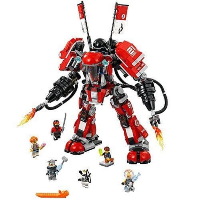 robot lego ninjago movie 70615 fire mech set ninja kai