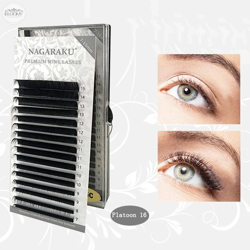 ce57361fd30 16 Rows Faux Mink Strip Eyelashes Make Up Practice Eye Lashes Beauty Gift |  Shopee Indonesia