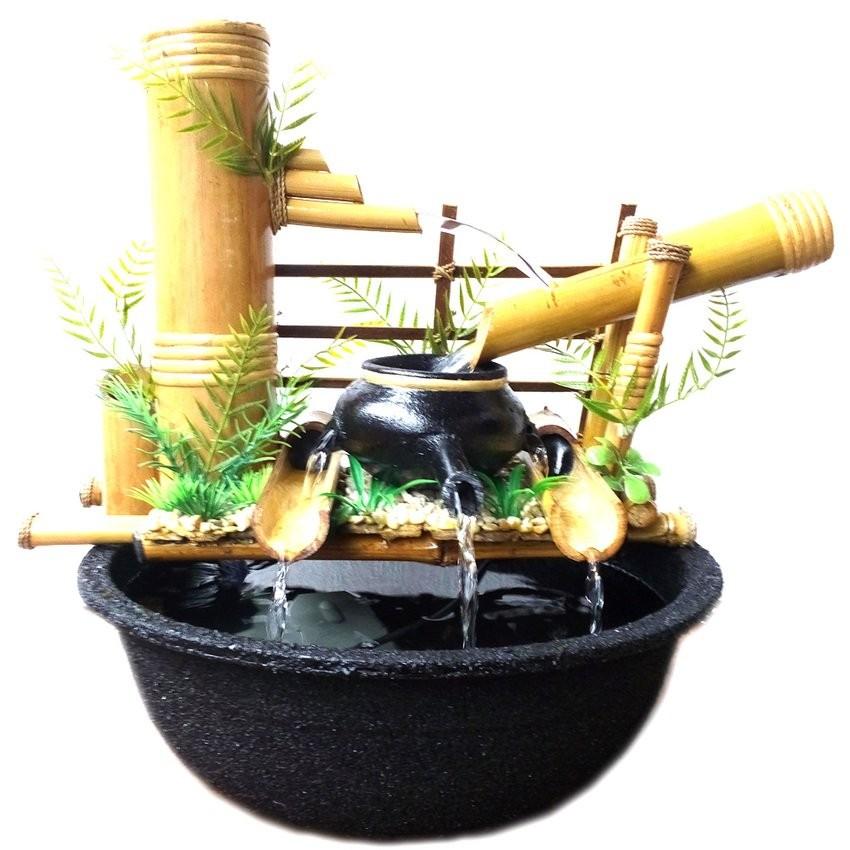 Kerajinan Miniatur Air Mancur Bambu Cendani Jtp02 34x12x30cm Shopee Indonesia