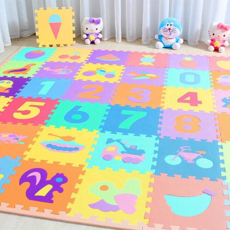 Karpet Lantai Puzzle Bahan Busa EVA Lembut 30x30cm   Shopee Indonesia