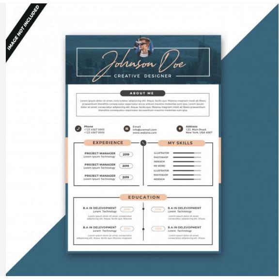 Desain Cv Resume 1 Hari Yang Menarik Untuk Mendapatkan Pekerjaan