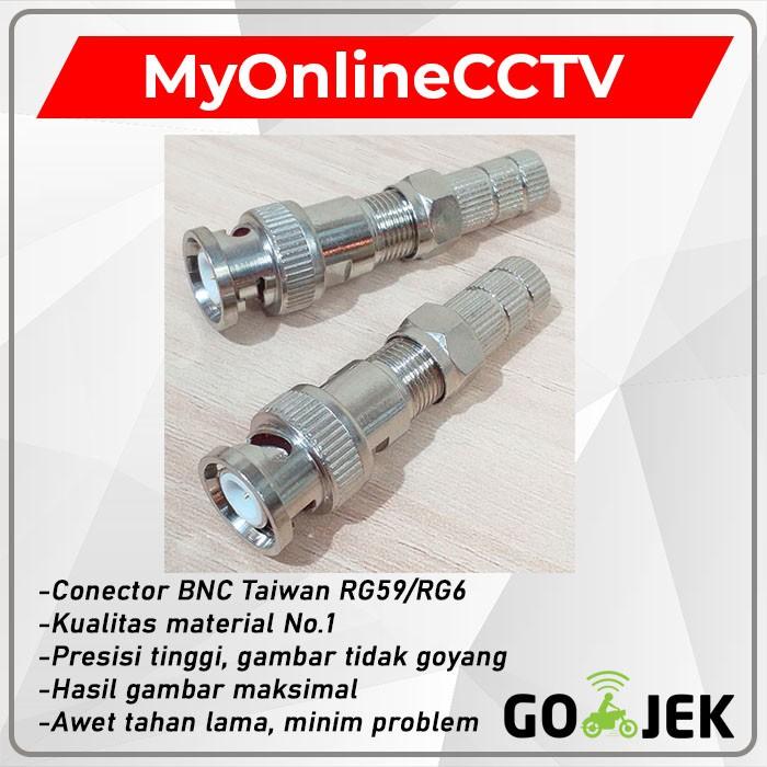 Connector Jack BNC Drat CCTV Konektor RG6 RG59 Male ...