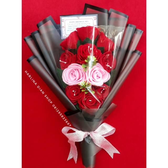 Buket Bunga Cantik Mewah Untuk Kado Ultah Anniv Wisuda Dll