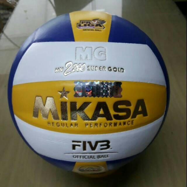 Bola voli mikasa  volly ball mikasa mv 2200 super gold premium harga murah   361142e4a6