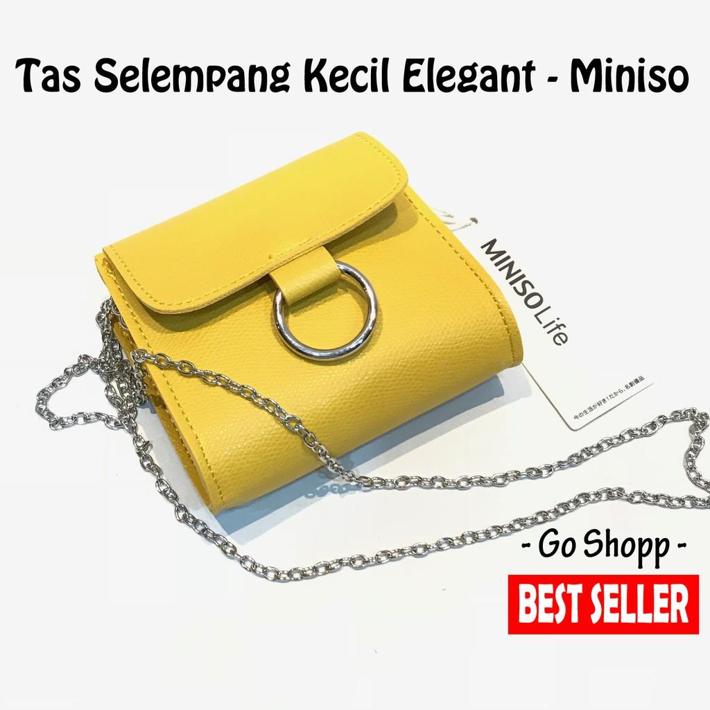 Tas Wanita Selempang Miniso CrossBody Bag With Ring (Rantai Besi ... fde5bad872