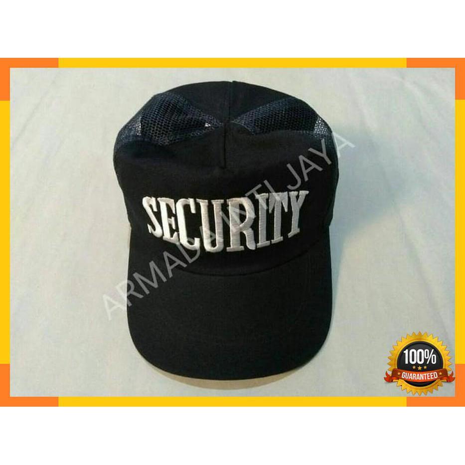Topi Jaring Security l Topi Jala Satpam l Topi PDL Satpam l Biru Dongker  d621c57ece