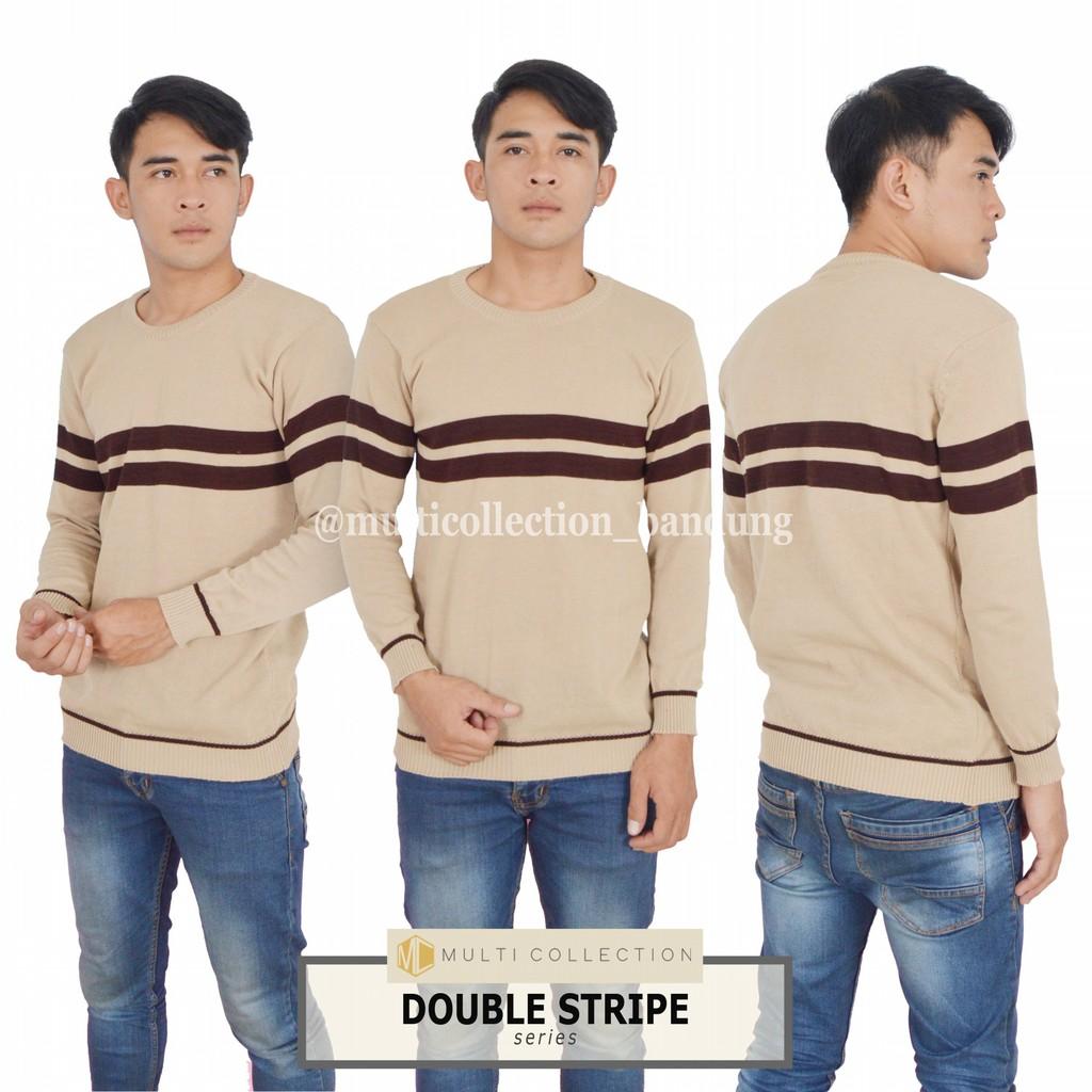 Baju Atasan Fashion Pria Rajut Ootd Sweater Tribal Tedy Grey Tirbal Kece Terbaru Shopee Indonesia
