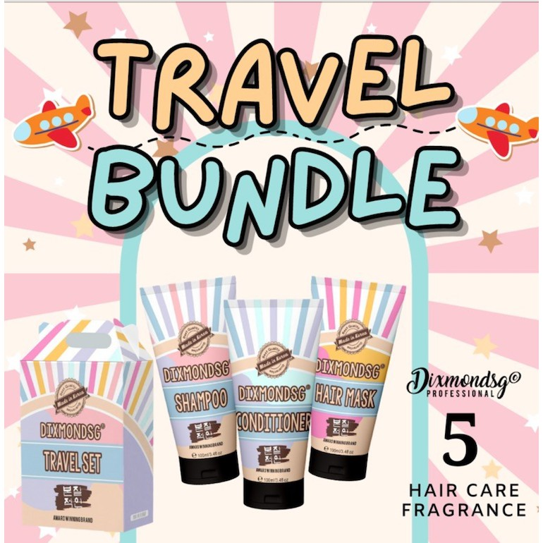 DIXMONDSG HAIR CARE TRAVEL SIZE SHAMPOO CONDI HAIR MASK AWARD-WINNING-1