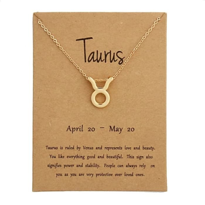 Exclusive Kalung Zodiak Taurus Model Zodiac Wanita Emas Hadiah | Shopee  Indonesia