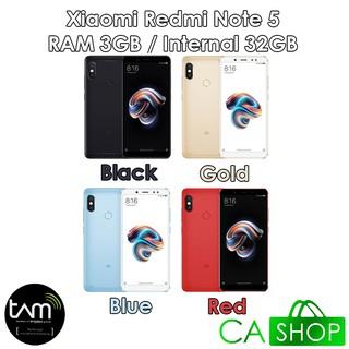 Xiaomi Redmi Note 5 - 3GB 32GB (3/32) - Black / Gold / Blue / Red - Baru NEW - Resmi TAM