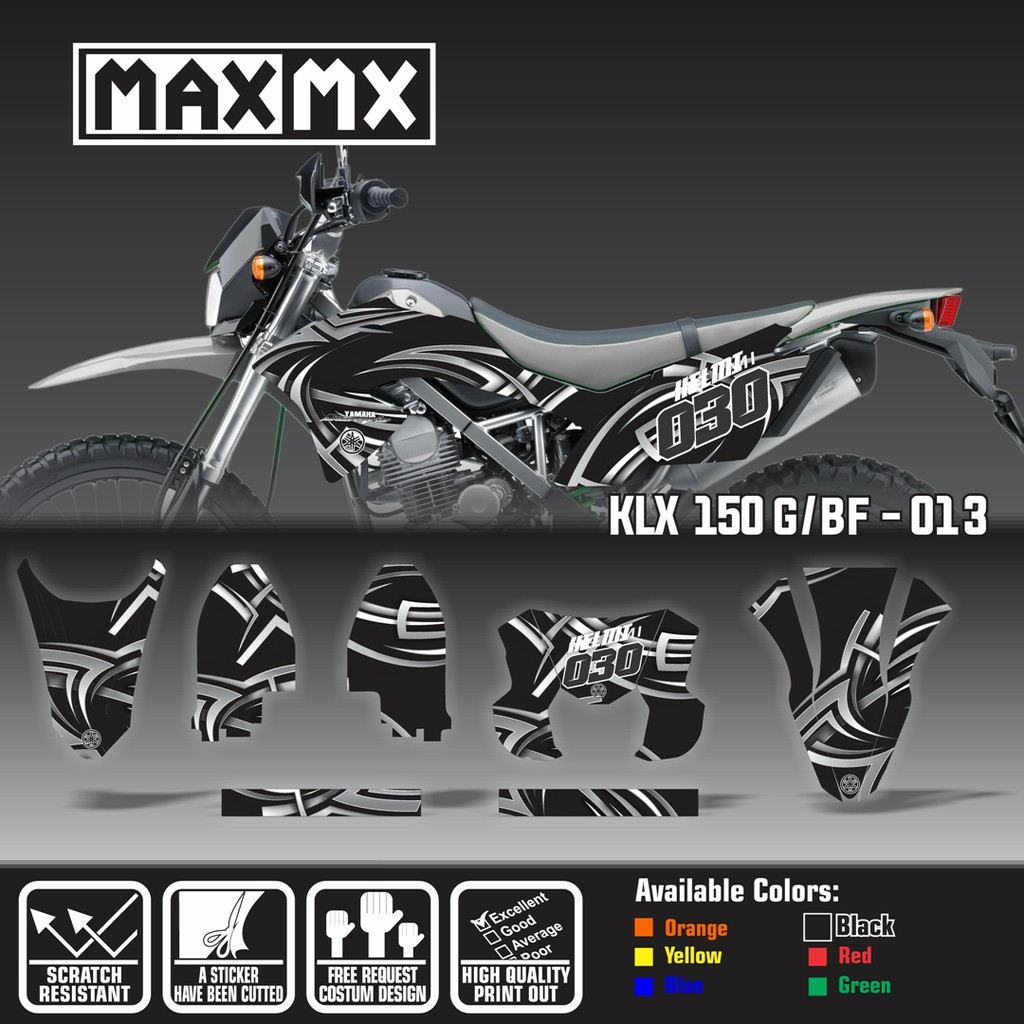 Hot promo stiker decal klx bf hitam hijau shopee indonesia