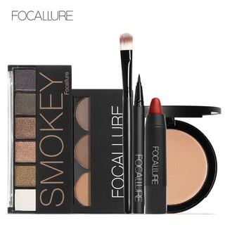 Focallure 6Pcs Set Palet Eyebrow Powder Matte dengan Brush thumbnail