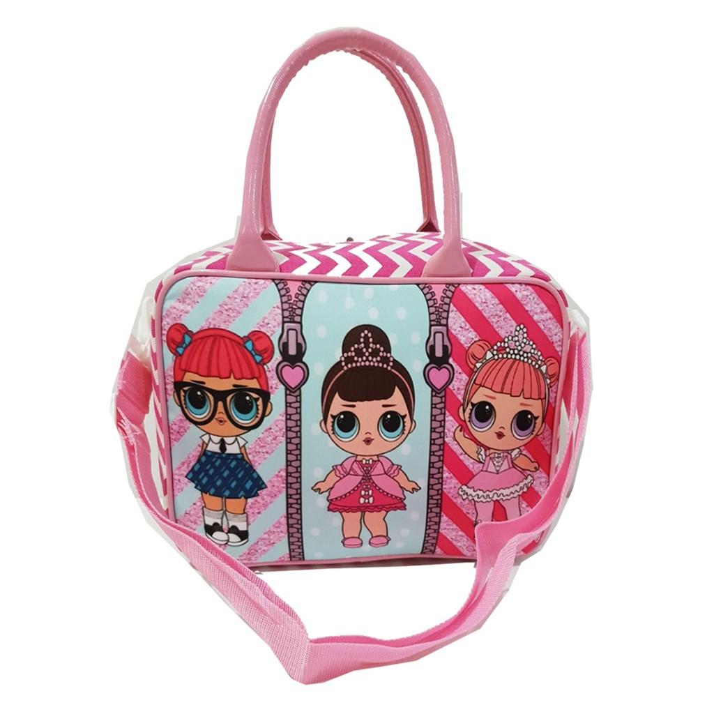 HARGA TERMURAH KUALITAS TERBAIK Travel Bag Karakter Minnie & Mickey Bahan Kanvas - Black   Shopee