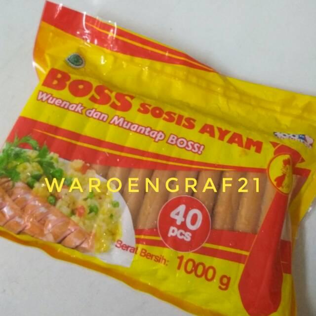 Boss Sosis Ayam 1kg Isi 40pcs