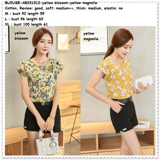 ... Baju Atasan Santai Blouse Garis Bunga Korea Import AB231312. suka  23 c9188122f8