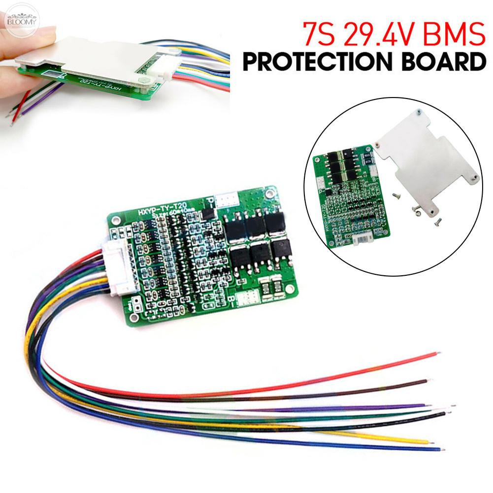 BMS Board 2.5V±0.05V 29.4V 4.25±0.05V 7S BMS For Li-ion Lithium Battery