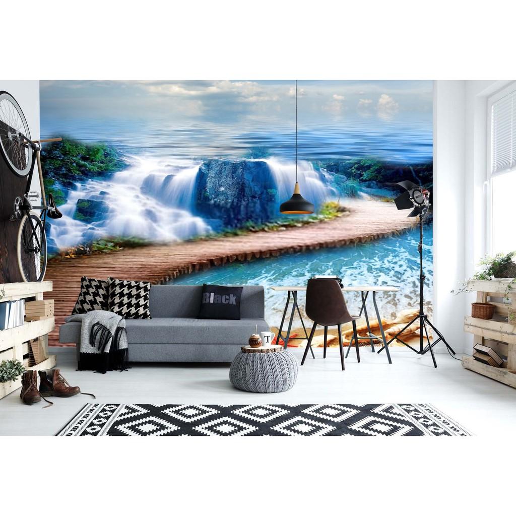 Mural Wallpaper Custom 3D Look Nature Pemandangan Alam