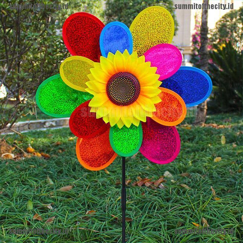 Mainan Kincir Angin Dua Lapis Bentuk Bunga Matahari Warna Warni Untuk Dekorasi Taman Shopee Indonesia