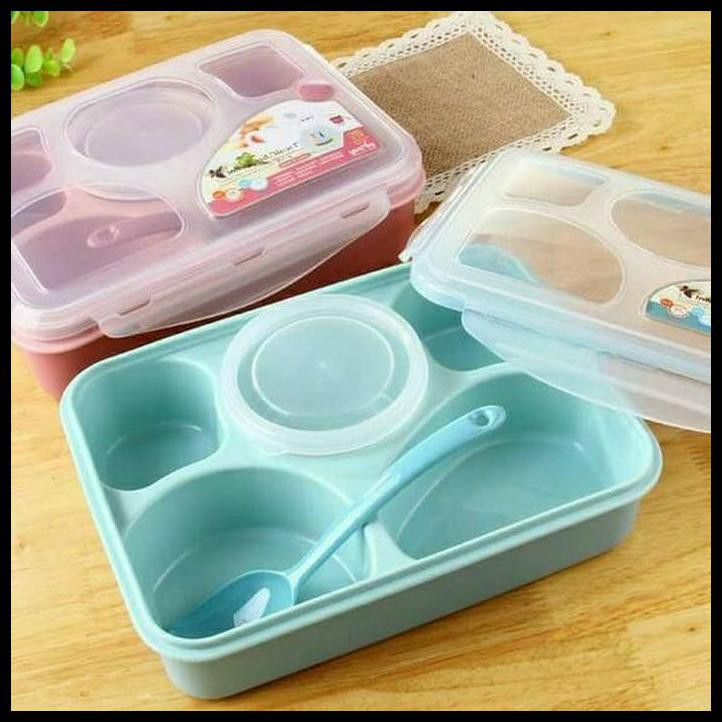 Dot Design Portable Leak-proof Thermal Lunch Box Stainless Steel Bento Box | Shopee Indonesia