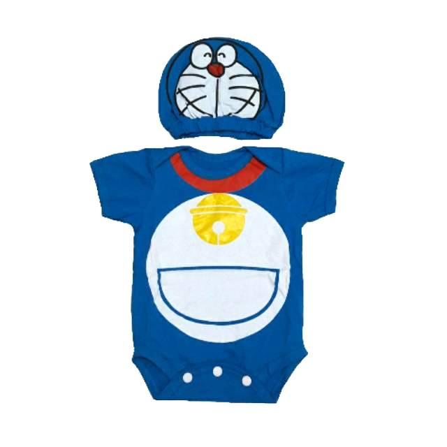 Jumper Bayi Karakter Donald Bebek Kostum Bayi Set Topi Lucu | Shopee Indonesia