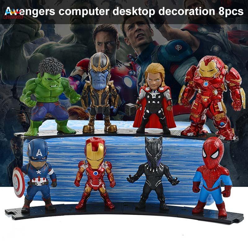 CAPTAIN AMERICA ET HULK LE LONG Avengers Mini Figures//gâteau Toppers de IRON MAN