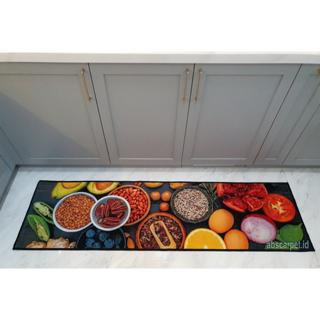 Keset Lantai Dapur Modern Ukuran 50 X 180 Cm Anti Slip Dengan