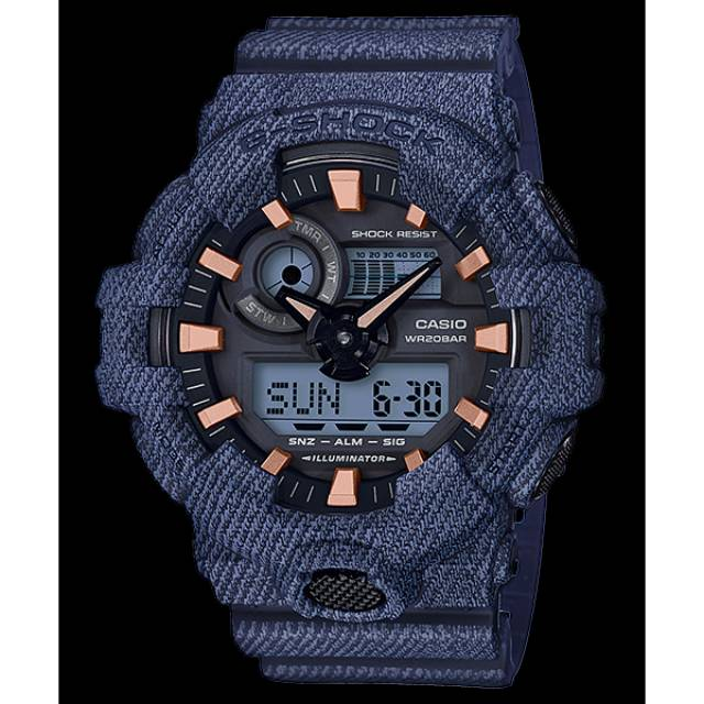 Jam Tangan Pria Casio G-Shock Original Denim