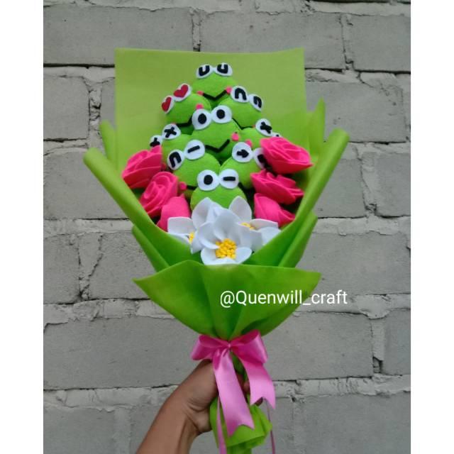 Buket Bunga Keroppi Flanel Buket Keroppi Buket Karakter Keropi Shopee Indonesia