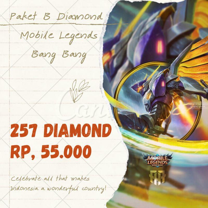 Paket B 257 Diamond Mobile Legends Bang Bang