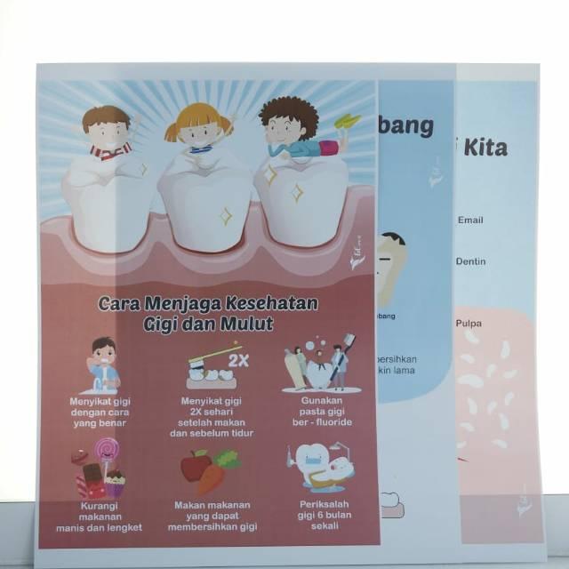 Poster Edukasi Kesehatan Gigi Dan Mulut Wohd Makanan Sehat Cara