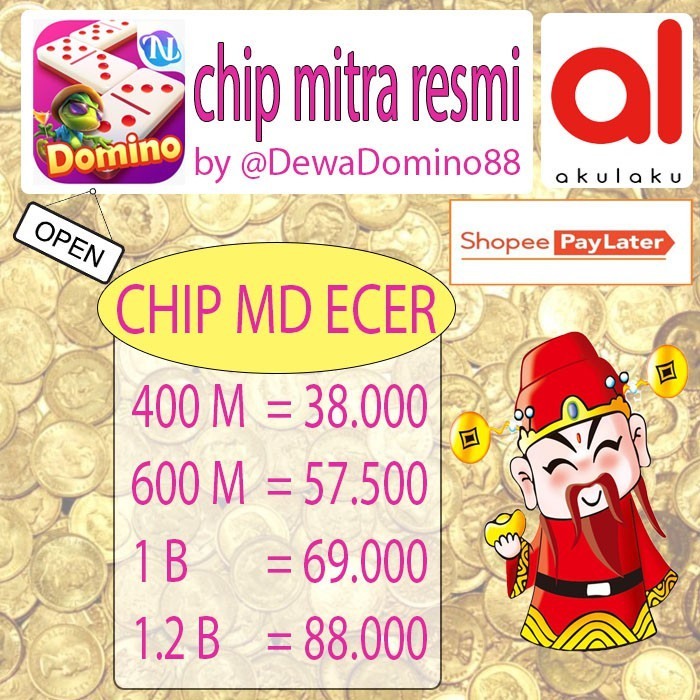 [Higgs Domino] Top Up koin/Chip/Coin/Cip ECER UNGU