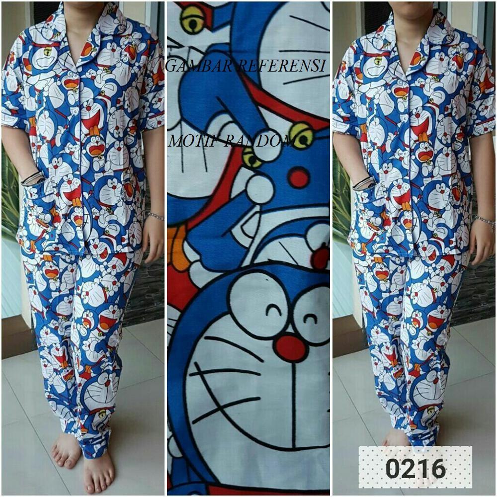 Baju Tidur Doraemon Panjang