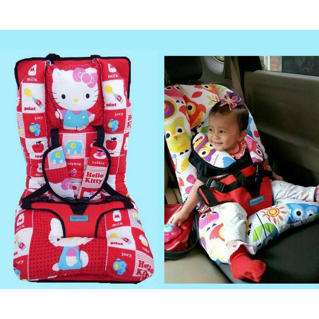 Baby Car Seat Full Cushion Motif Hello Kity