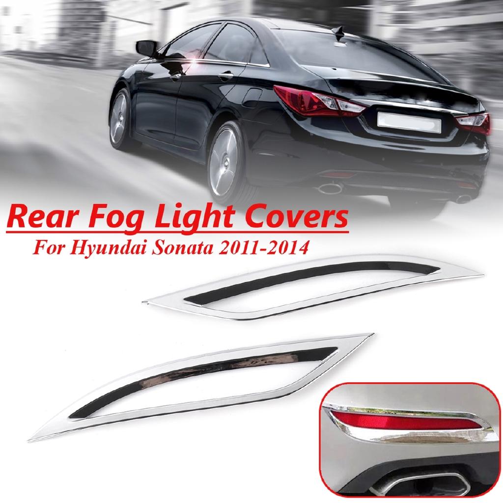 Rear Bumper Fog Light Lamp Cover Trim Chrome For Hyundai Sonata 2011 2012 2013