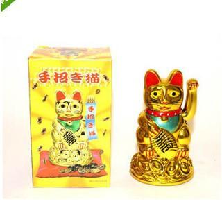 Dekorasi Patung Emas Kekayaan Cina Bentuk Kucing Melambai Shopee Indonesia