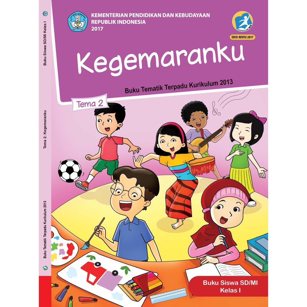 Buku Tematik Sd Kelas 1 Tema 2 Kegemaranku K13 Revisi Shopee Indonesia