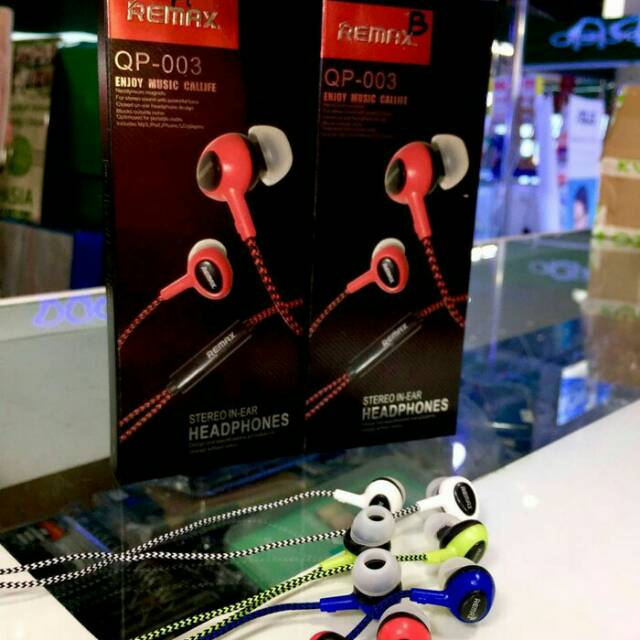 Stereo headset REMAX QP-003 Earphone original good quality