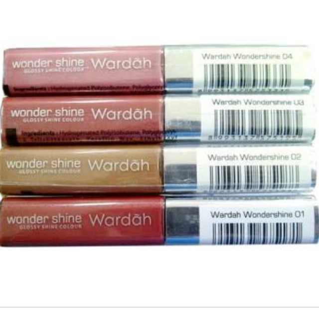 Wardah wonder shine glossy isi 4,5 gr/lipgloss wardah/lip glossy wardah/pelembab bibir wardah ORI | Shopee Indonesia