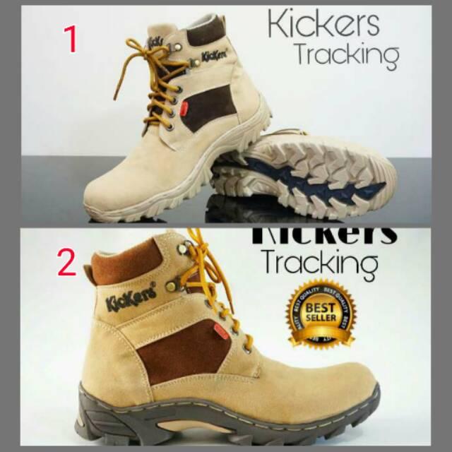 TOP SELLER SEPATU Kickers Safety Boots Tracking Kulit Semi Boot Murah Pria Zipper | Shopee Indonesia