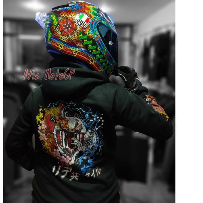 ✤2.2✤ [Awalmasdim] hoodie sunmori japanese limited edition ride with style hoodie kohaku naga tiger