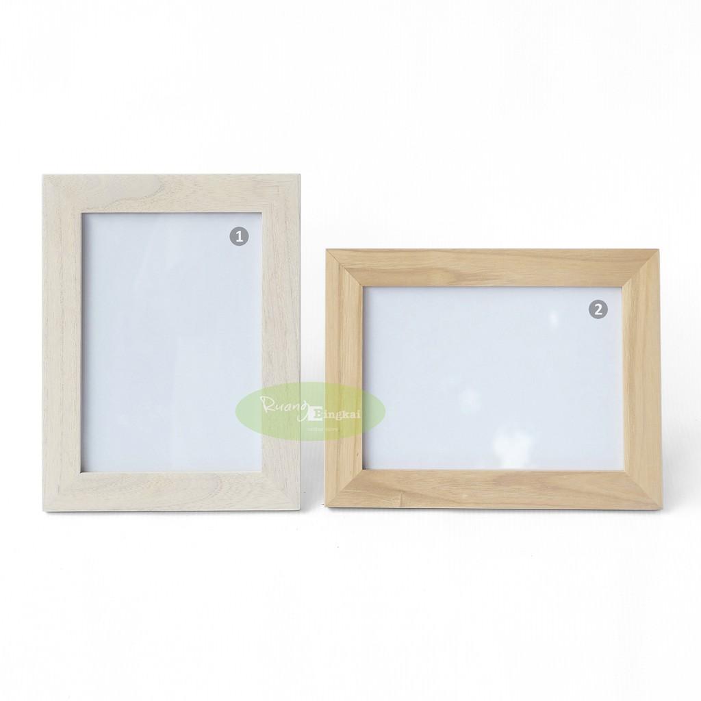 Frame Pigura Figura Bingkai 5r Minimalis Warna Shopee Indonesia 4r 10x15cm Hitam Putih